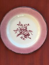 Set of 3 Wood and Sons Pink Colonial Rose Salad Desserts Plates 8""
