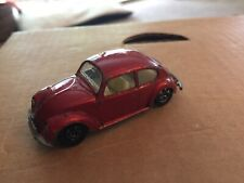 Matchbox No. 15 Volkswagen 1500 Saloon Vw Beetle Bug Red 1/64 Vintage Diecast