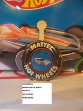 HOT WHEELS REDLINE METAL BUTTON COLLECTORS FORD J CAR HK SMOOTH TAB