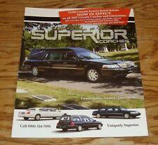 2007 Lincoln Superior Coach Sales Brochure 07 Hearse Limousine