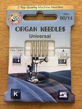 Aguja para máquina de coser industrial de órganos (Máquina Doméstica Agujas) Talla 90/14