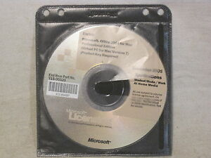 Microsoft Office 2004 for Mac Professional Ed. Virtual PC Version 7 Applications