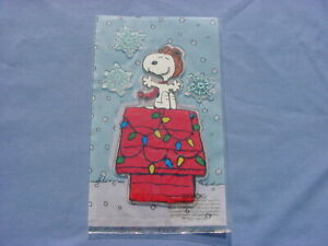 NEW CHRISTMAS RED BARON GEL CLINGS FLYING ACE SNOPPY/DOG HOUSE/SNOW FLAKES