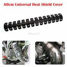 Universal Motorcycle Exhaust Muffler Pipe Leg Protector Heat Shield Covers Guard