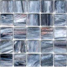 25pcs GM86 Grey Bisazza Le Gemme Italian Glass Mosaic Tiles 2cm x 2cm