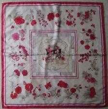 """-Authentique Foulard HERMÈS  """"QUAI AUX FLEURS""""   100% soie  TBEG vintage scarf"""