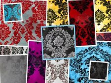 Taffeta Damask Velvet Flocking Fabric 58