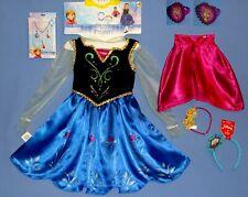 Disney Frozen Anna costume dress girls 4-6X-cape-vest-petticoat-ACCESSORIES-LOT