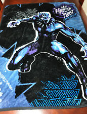 Marvel Black Panther Warrior King Super Soft Fleece Blanket Throw - 49X38