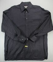 Ermenegildo Zegna Men's Large gray button front shirt - Made in Italy