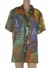 made italy blusa camicia donna floreale taglia xl extra large