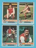 FOOTBALL - TOPPS  GUM  -  4  DIFFERENT  FOOTBALLERS  -  ARSENAL  -  1977