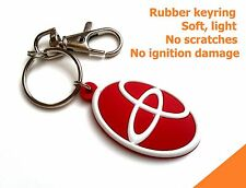 TOYOTA keyring Corolla Hilux Yaris rubber keychain - light, soft, flexible
