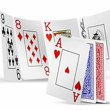 Playing Cards 2 Decks Waterproof Plastic Poker Cards for Blue/Red (2 Decks)