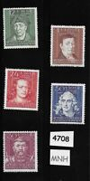 #4708 MNH complete stamp set / 1944 German General Gov't  Poland Famous citizens