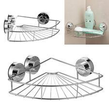 Bathroom Suction Cup Shelf Shower Corner Storage Caddy Holder Rack Organizer