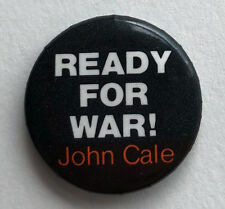 RARE Vintage 1979 JOHN CALE promo button pin badge Ready For War Velvets IRS 1""