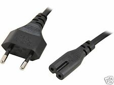 2 Prong EU Plug AC Power Supply Charger Adapter Cable Cord Lead for Laptop