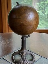 "Antique Rand McNally 6"" Terrestrial Globe With Cast Iron Base Early 1900s"