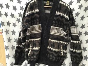 """Mens Thick Knit Wool Cardi Brown 46""""? Chest"""