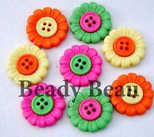 Beach Blooms flower novelty Dress it up plastic craft buttons