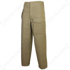 Pantaloni da uomo marrone in lana