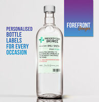 Personalised Prescription Bacardi Spoof bottle label, Perfect Birthday/ Gift