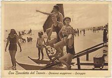 SAN BENEDETTO DEL TRONTO - STAZIONE SOGGIORNO - SPIAGGIA (ASCOLI PICENO) 1939
