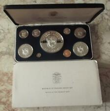 More details for 1978 panama proof sterling silver coin year set,9 coin cased & coa  b37