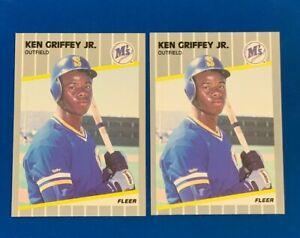KEN GRIFFEY JR 1989 Fleer / Score Traded Rookie / 2nd LOT * Lot of 10 cards