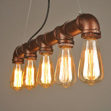 Vintage Industrial Rope Kronleuchter Retro Kreative DIY Cafe Bar hängende 5 Lamp