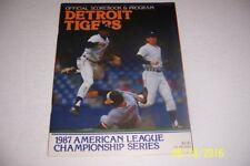1987 ALCS Program DETROIT TIGERS Minnesota TWINS American League Championship