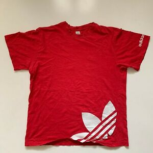 Adidas T-Shirt Youth XL Red Vtg Retro Tee