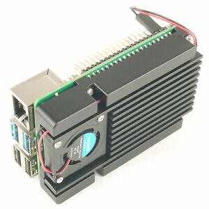 Cooling Base for Raspberry Pi 4B Aluminum Heatsink Quiet Turbo Blower Fan Cooler