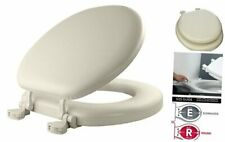 Mayfair 13Ec 346 Soft Toilet Seat Easily Removes, Round, Padded with Wood Core,