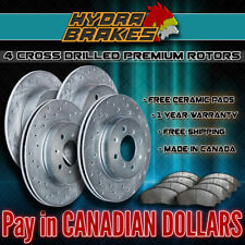 FITS 2009 2010 PONTIAC VIBE 1.8 Drilled Brake Rotors CERAMIC SLV
