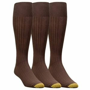Gold Toe Men's Canterbury OTC Extended Sock,3 Pack, Brown,, Brown, Size 12.0 Sd1