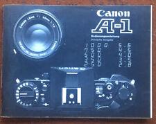 Canon A-1  - Anleitung von 01.80