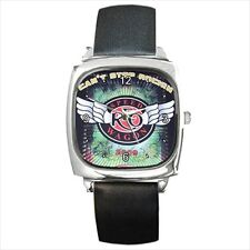 NEW Square Metal Leather Wrist Watch REO Speedwagon retro rock