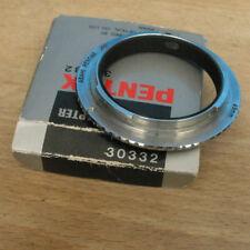 genuine pentax PK K M mount  reverse ring to 49mm filter macro coupler bronze
