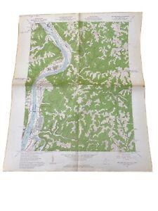 1962 Map USGS Topo New Martinsville West Virginia - Ohio River - Vintage