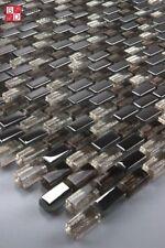 Glasmosaik Mosaikfliesen Mosaik Fliesenmosaik Mosaikglas Braun Silber Gold