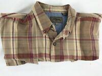 Roper Mens Long Sleeve Button Up Western Cowboy Rodeo Shirt Browns Size XL