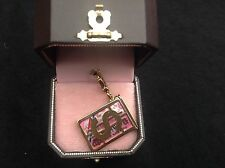 NIB Juicy Couture New Genuine Rare Boxed Gold & Pink Credit Card Charm YJRU3736