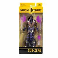 "Mortal Kombat 11 McFarlane Toys 7"" Deluxe Action Figure SUB ZERO PURPLE NIB"