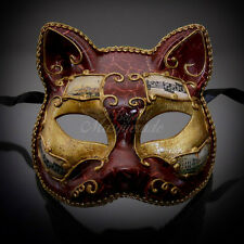 Gatto Cat Venetian Halloween Costume Masquerade Mask M7457 [Red]
