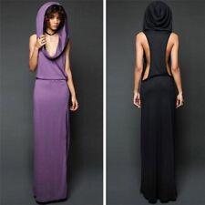 Split Design Halloween Costumes For Women Medieval Dress Sexy Sleeveless Hoodies