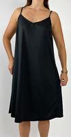 TAKING SHAPE TS Black Stretch Strappy Slip Midi Dress Plus Size M AU 18 Casual