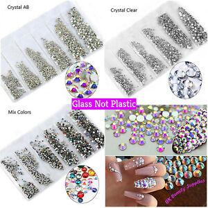 1400pcs 6 Size AB Diamante Gems Crystal Clear Rhinestone 3D Nail Art Decoration