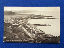 Sepia postcard: Cardiganshire, Aberystwyth view from Constitution Hill 1926